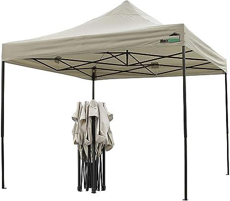 MaxxGarden - Carpa Impermeable (3 x 3 m, Incluye Bolsa, protección UV 50+), Color marrón: Amazon.es: Jardín