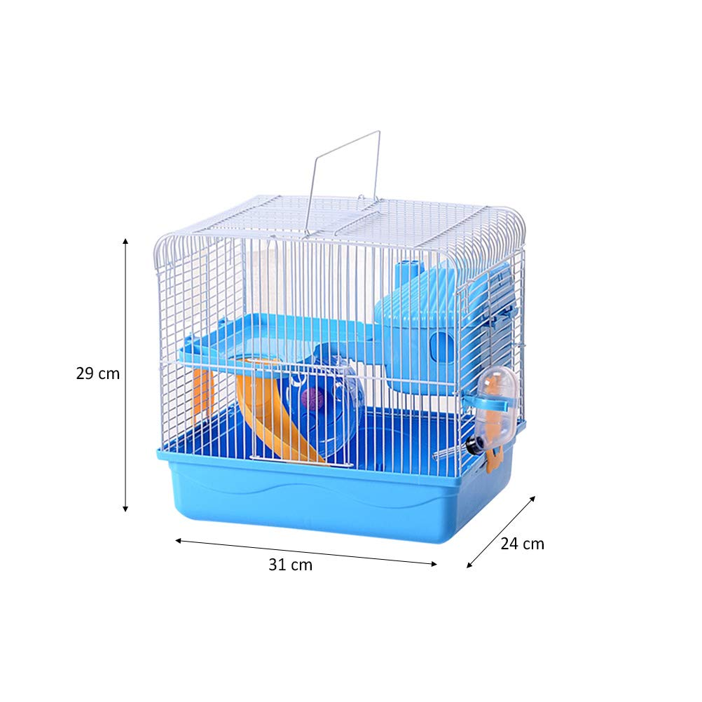 POPETPOP Hamster Cages and Habitats-Hamster Bedding Double-Layers Hamster House Portable Dwarf Hamster-Syrian Hamster-Hedgehog-Chinchilla-Mouse Cage by POPETPOP (Image #4)