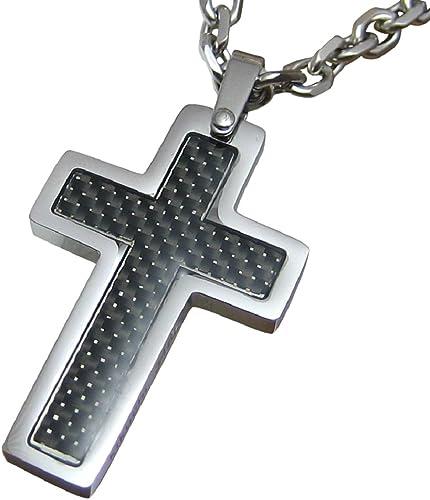 Colgante cruz de acero inoxidable con acero de carbono