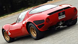 Lilarama USA 1967-Alfa-Romeo-Tipo-33-Stradale-Prototipo-V5- - Super Car Classic Car Poster Print - Cool Wall Decor Art Print Poster