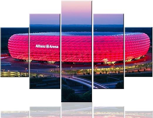 Football print Bayern Munich decor Allianz Arena poster gifts wall art