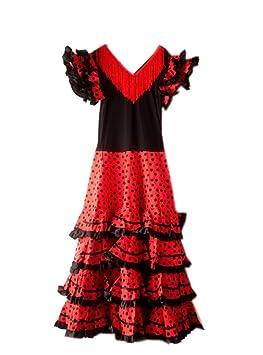Femmesenfant Espagnol 36115 Rita 34 Pour Flamenco Robecostume Seno Noirrouge Cm La NwP8k0XnO