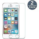 Vetro Temperato iphone 5s 5 5c SE, [2-PACK] Y-ouni 9H Durezza Ultra Resistente - Ultra Sottile 0,3 mm, pellicola vetro temperato iphone 5s 5 5c SE