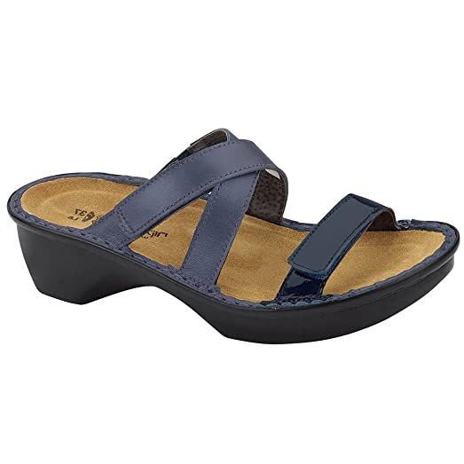 Naot Quito Cosmopolitan Women Sandals, Polar Sea/Navy Patent Leather,Size -  36