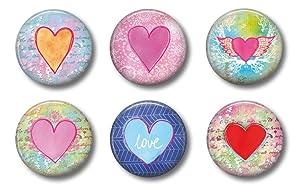 Heart Magnets - Cute Locker Magnets For Teen Girls - Whiteboard Office or Fridge - Funny Magnet Gift Set (Hearts)