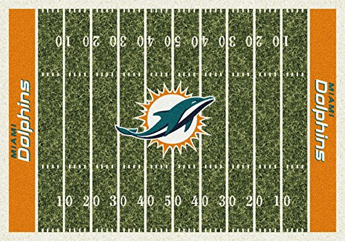 Miami Dolphins NFL Team Home Field Area Rug by Milliken, 3'10