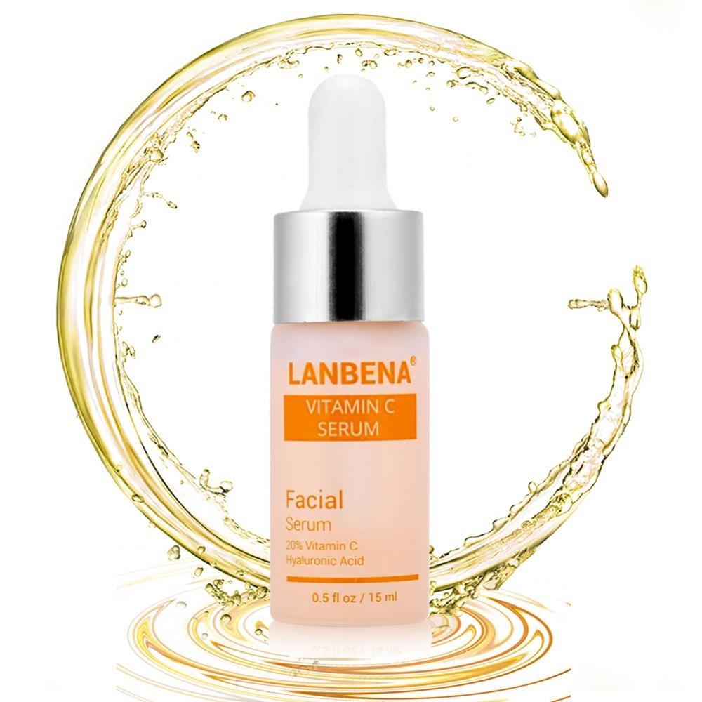 La vitamine C de sérum facial enlèvent les taches de rousseur anti-âge, l'illuminant normal anti-ride pour le visage et le cou 15ml Yotown