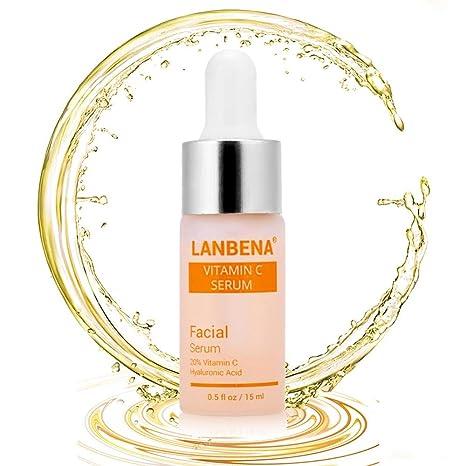 Serum Facial Vitamina C Eliminar Pecas Anti Edad, Antiarrugas Illuminante Natural Para Rostro y Cuello