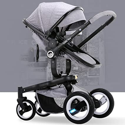 HJHY Carruajes de bebé, bebé Carrito de niño Alto paisaje Carro de bebé Carritos Puede