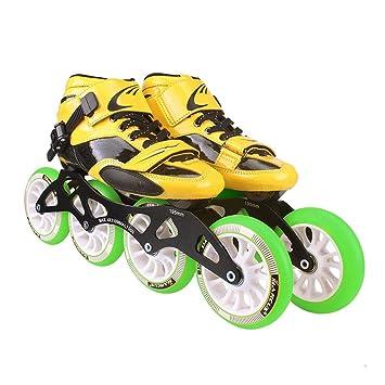 LIUXUEPING Patines, Zapatos Profesionales De Patinaje De Velocidad, Patines De Los Niños Adultos, Patines En Línea, Zapatos De Carreras De Ruedas Grandes: ...