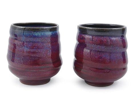 Image Unavailable  sc 1 st  Amazon.com & Amazon.com | Plum Perfect Spiral Stoneware Tea Cups American Made ...