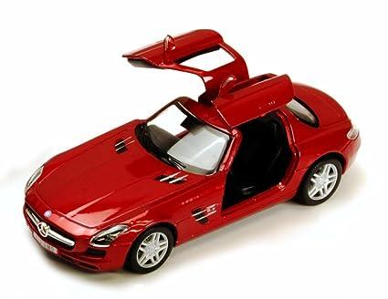 Amazon Com Mercedes Benz Sls Amg Ruby Kinsmart 5349d 1 36