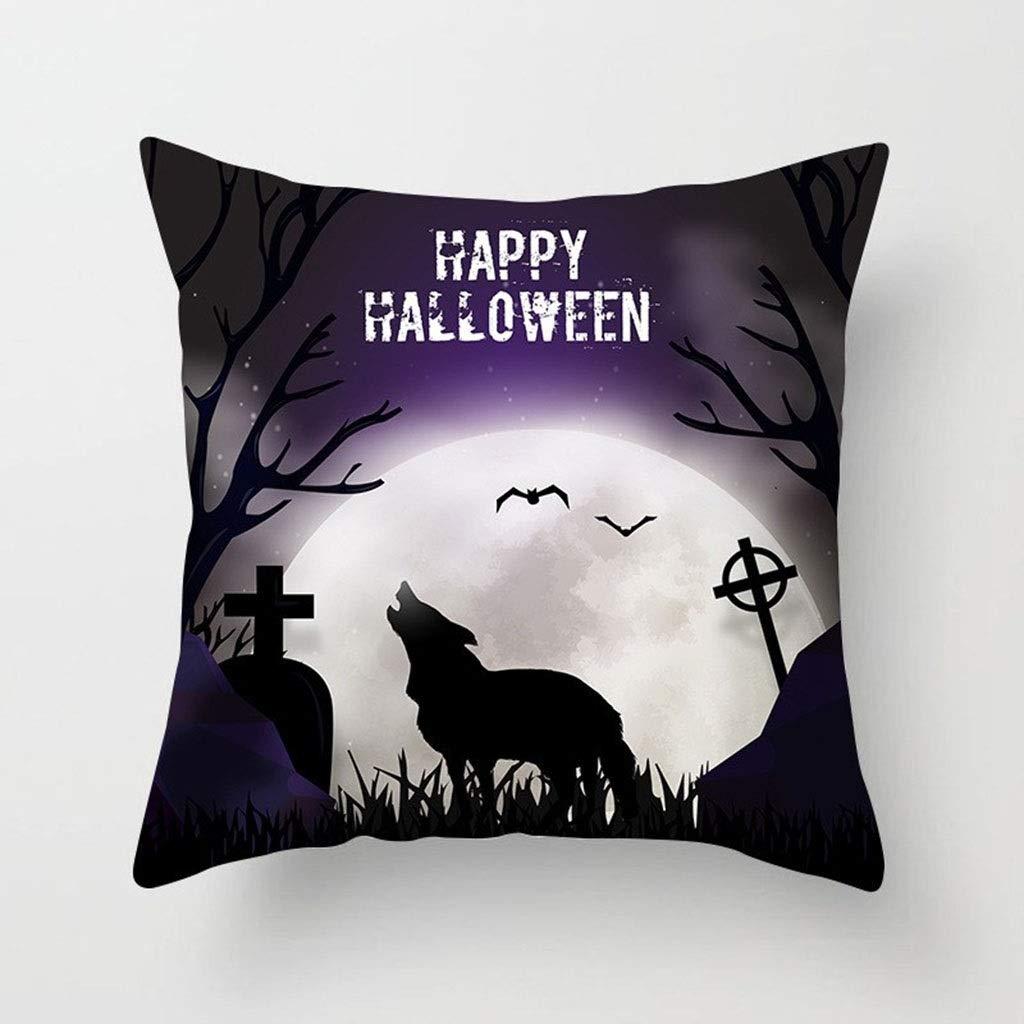 HappyL Halloween Pillow, Halloween Personalised, Gift, Halloween Home Decor, Halloween Party Decor, Halloween Party, Halloween Home Accessories(18 x 18 Inch) - 5pcs Set by HappyL