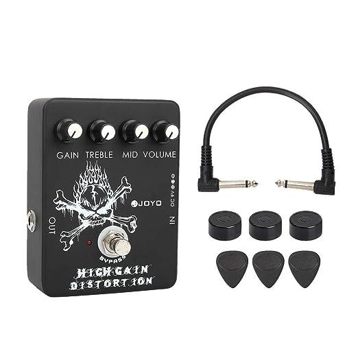 KEYREN Pedal de Guitarra eléctrica, JF-04 Pedal de distorsión de ...