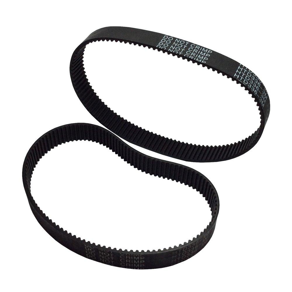 Belt Width-15mm 15 Lot de 2 courroies de distribution pour impression 3D avec boucle ferm/ée de 15 mm de largeur pour gravure laser Longueur de la courroie : 111 mm.