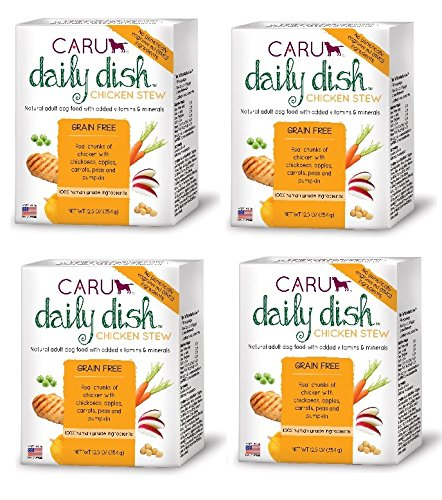 Caru - Daily Dish Chicken Stew, Natural Adult Wet Dog Food With Real Chunks Of Chicken, With Added Vitamins And Minerals, Non-Gmo Ingredients (12.5 Oz, Pack Of 4)