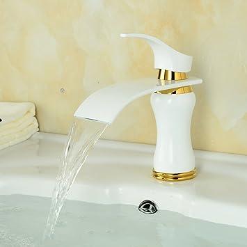 Beelee Elegant weiß Wasserhahn bad Waschtisch Waschbecken Armatur ...