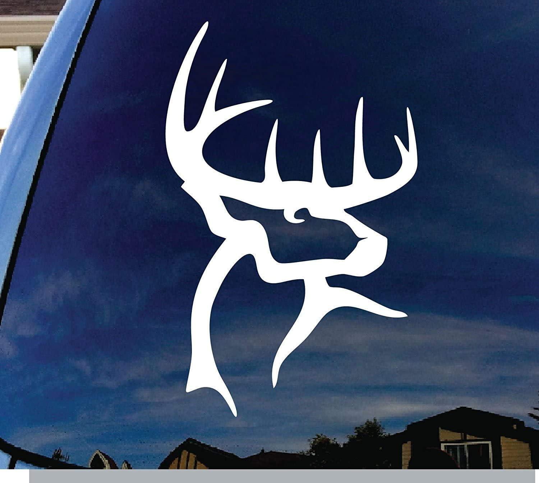 Amazon Com Buck Commander Deer Logo Vinyl 4 Tall Color White Decal Laptop Tablet Skateboard Car Windows Stickers Computers Accessories [ 1342 x 1500 Pixel ]