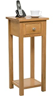 corner hall table. New Solid Oak Compact Tall Slim Small Telephone / Phone Console Lamp Hall Corner Table R