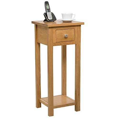 Lamp tables amazon waverly oak 1 drawer small oak console table in light oak finish solid wooden hall aloadofball Image collections