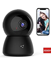 Victure 1080P FHD WiFi IP Camera Wireless Indoor Camera Night Vision Motion Detection 2-Way Audio Home Security Surveillance Pan/Tilt/Zoom Monitor Baby/Elder/Pet