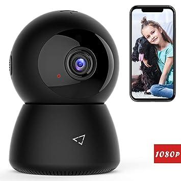 Victure 1080P Cámara IP WiFi,Cámara de Vigilancia FHD con Visión Nocturna,Detección de Movimiento,Audio bidireccional, 2.4GHz WiFi,Compatible con ...