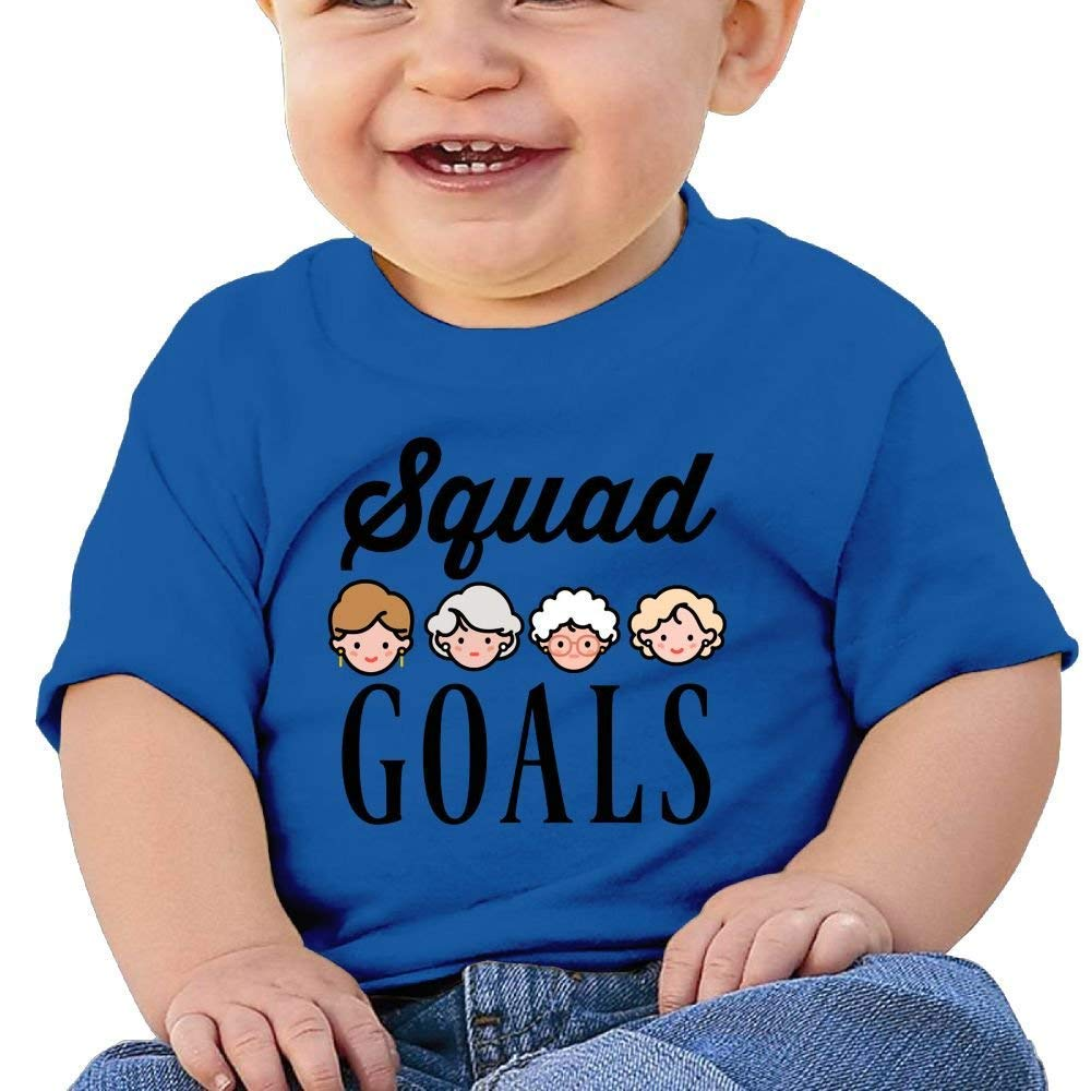 DAISYBARKER Washed Cotton Baby Boy Girls Cute Shirt Gold Squad Cute Summer T Shirt Funny