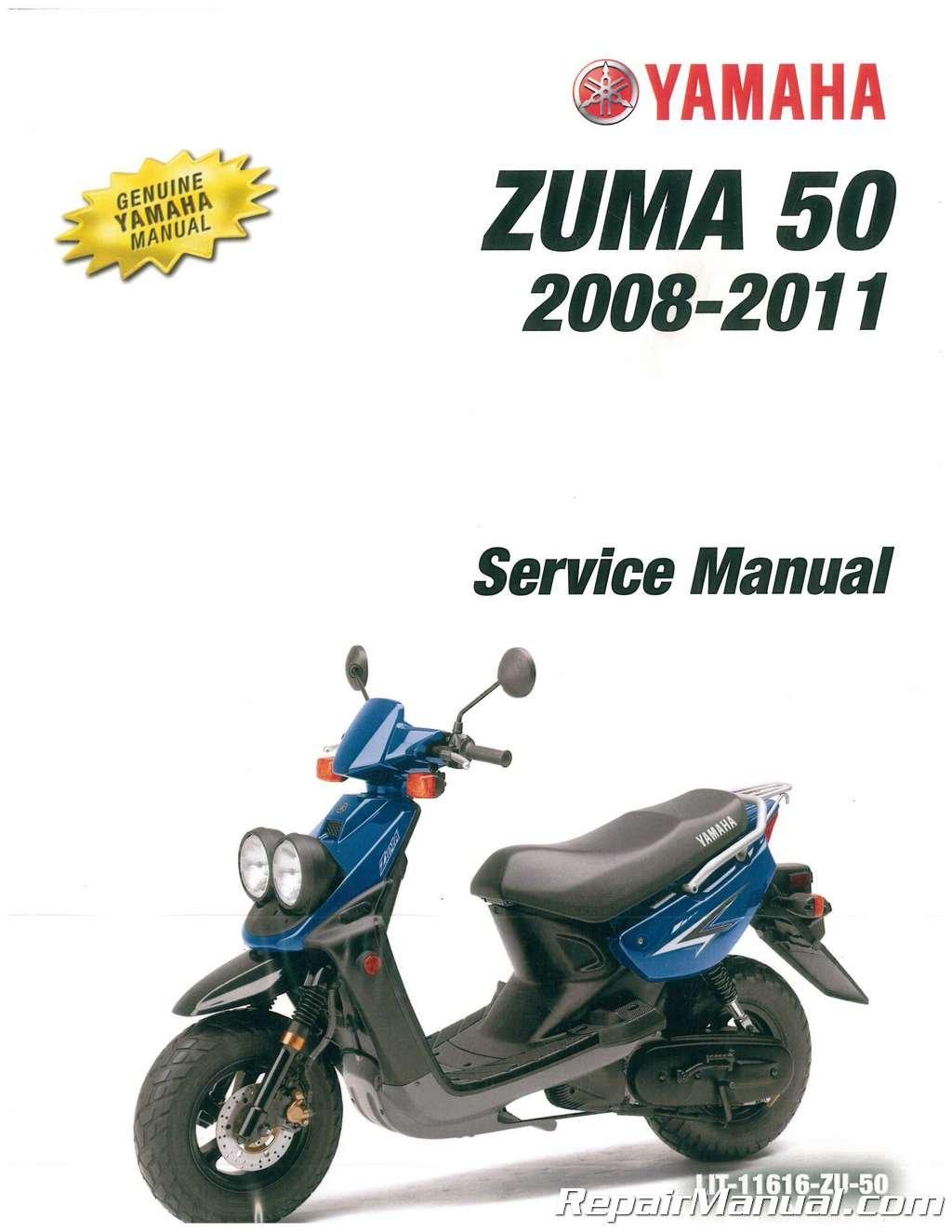LIT-11616-ZU-50 2008-2011 Yamaha YW50 Zuma Scooter Service Manual by by Publisher
