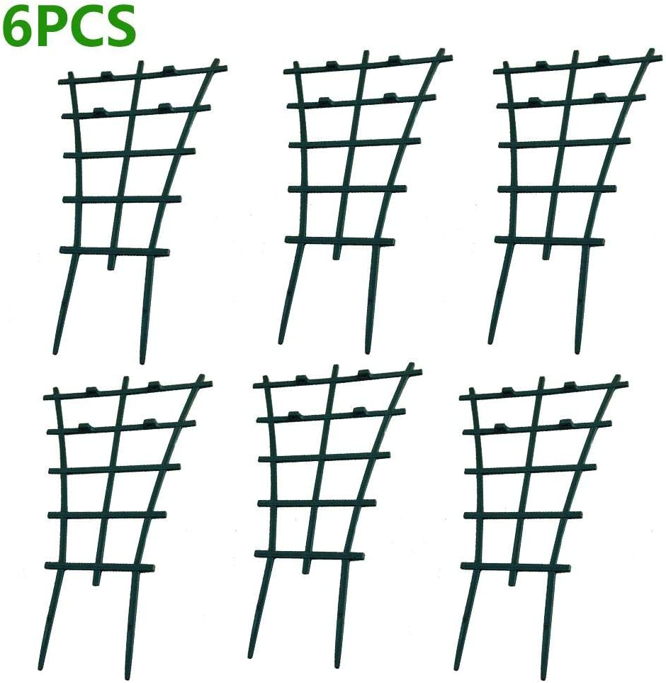 Mini Climbing Trellis Flower Vegetable Supports,Plastic Superimposed Garden DIY Tools for Courtyard Indoor Outdoor Climbing Plants Pot Trellis Tavot Plant Stem Support
