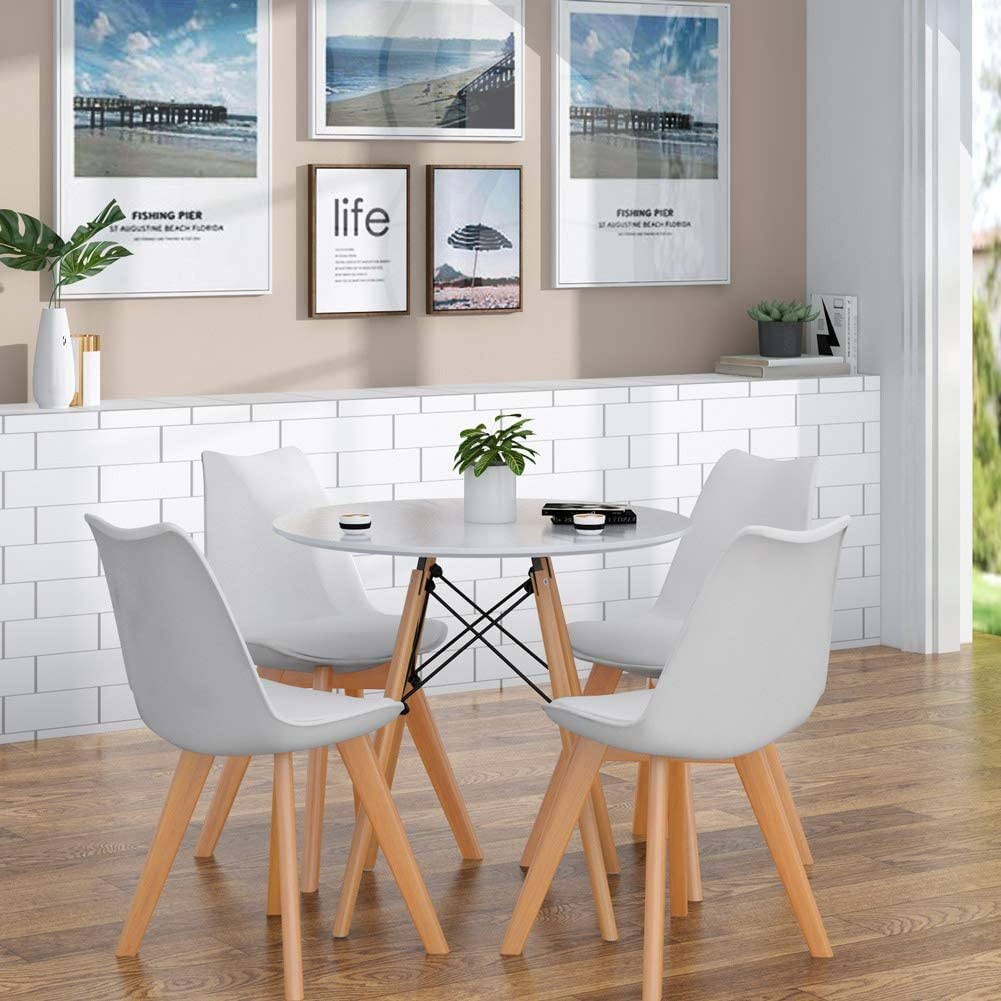 Dining Chairs Set Of 4 Modern Design Kitchen Chair Mid Century Retro For Dining Room Living Room Bedroom Kitchen Lounge White Tulips 4 Pack Dining Chairs Home Kitchen Cate Org