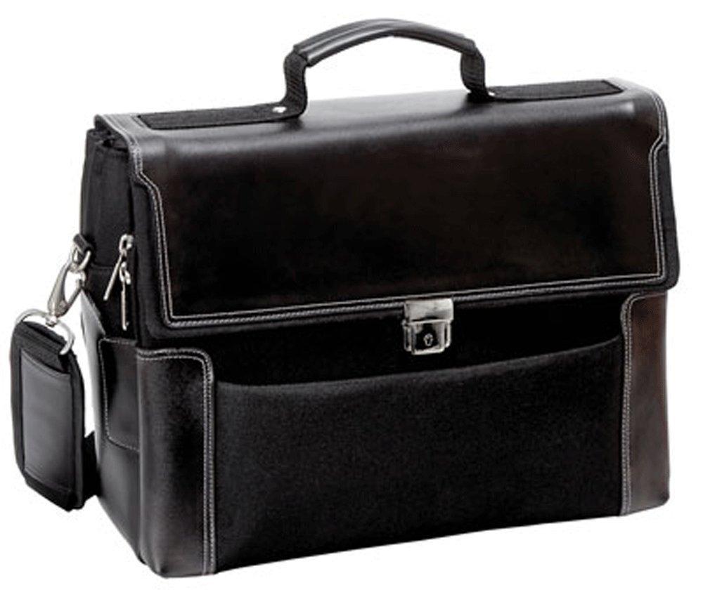 Bugatti Simulated Leather//Nylon Briefcase Laptop