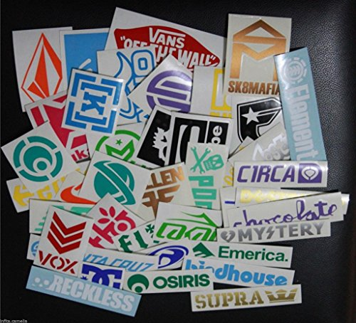 Skateboard Stickers for Deck Sports Outdoor Decal Pack Snowboard Wakeboard Skate Surfboard Longboard - Decal Pack