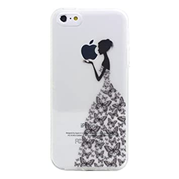 coque de iphone 5 en silicone fille oapillon