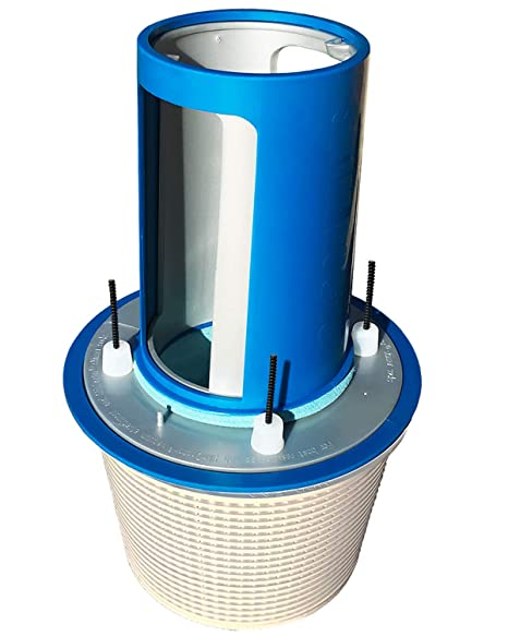 SkimDoctor 2 0 Pool Skimmer Basket TURBOCHARGER with Non-Corrosive Fittings  and FREE Skimmer Sock for easy removal of debris  Fits most inground pool