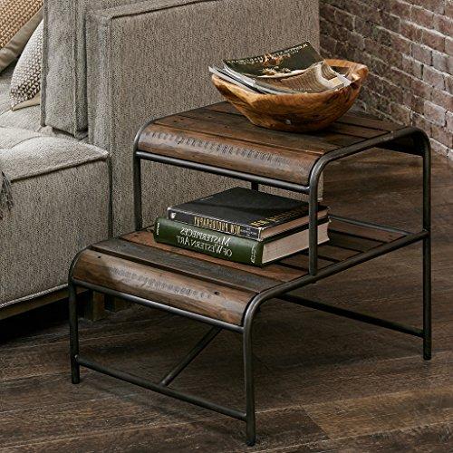 Metal End Table RENU/Light Brown Multi (Metal Ivy Design)