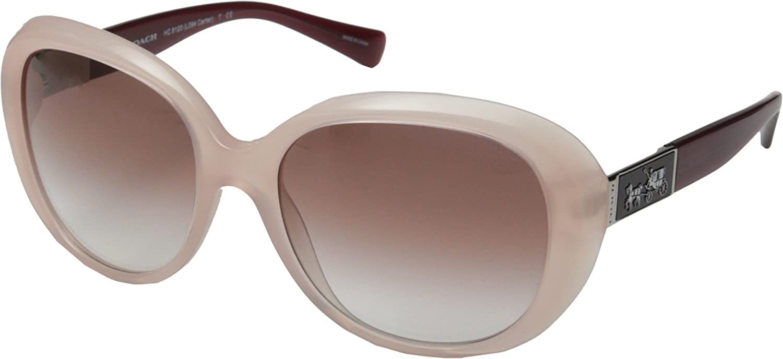 055419ab28 COACH HC 8120 Sunglasses 53148D Milky Pink Berry 57-18-135  Amazon.co.uk   Clothing