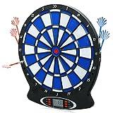 Ancheer Elektronische Dartscheibe, elektronisches Dartboard, Darts, Dartsport, inkl. 6 Dartpfeilen