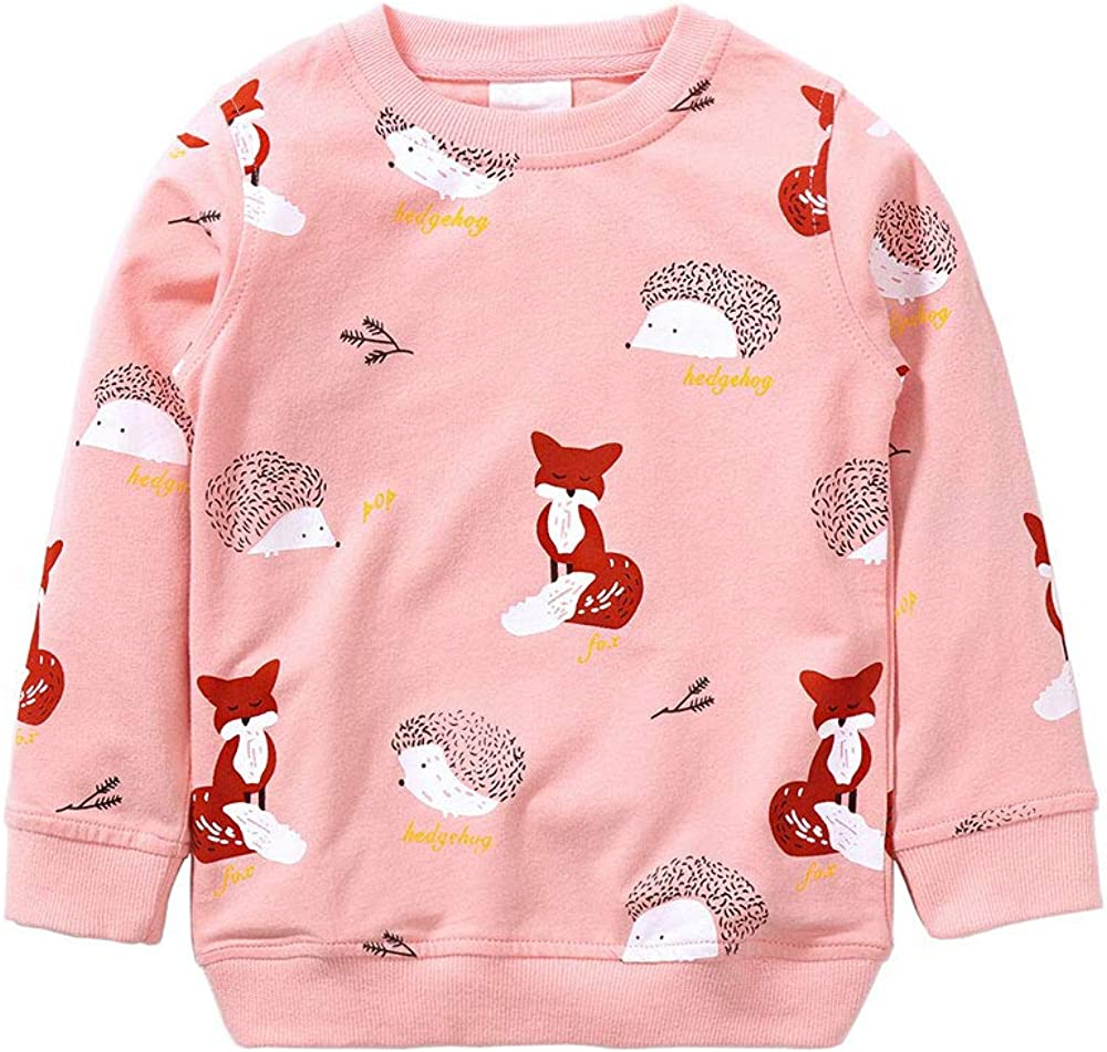 Girls Sweatshirt for Kids Cotton Top Casual Jumper Girl T Shirt Toddler Clothes Long Sleeve Pullover Winter Spring Age 1-7 Years