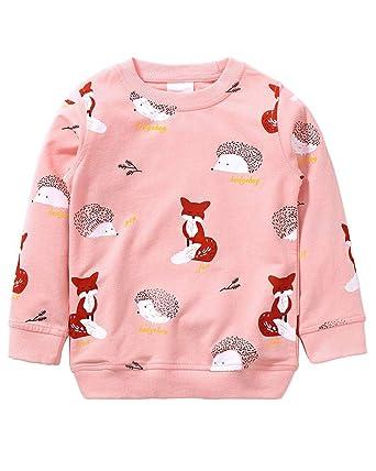 3a03ea351eba Girls Sweatshirt for Kids Cotton Top Casual Jumper Girl T Shirt ...