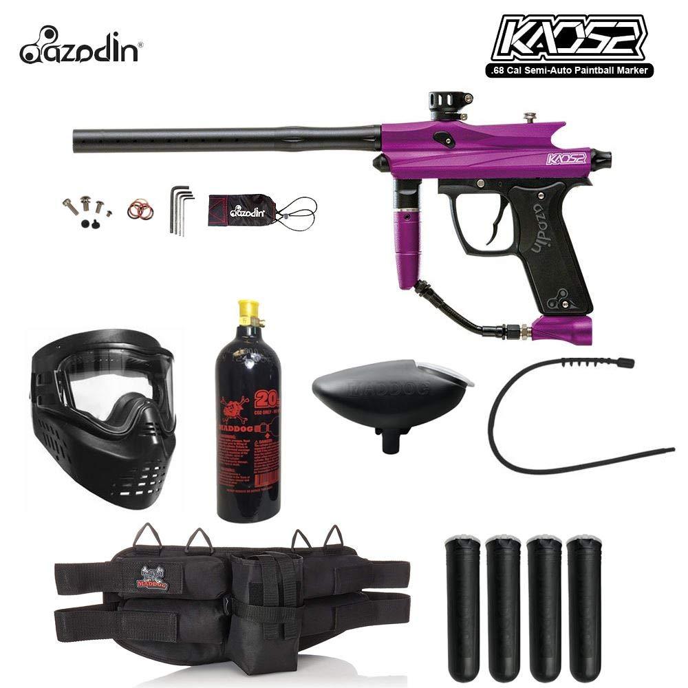MAddog Azodin KAOS 2 Silver Paintball Gun Package - Purple/Black by MAddog