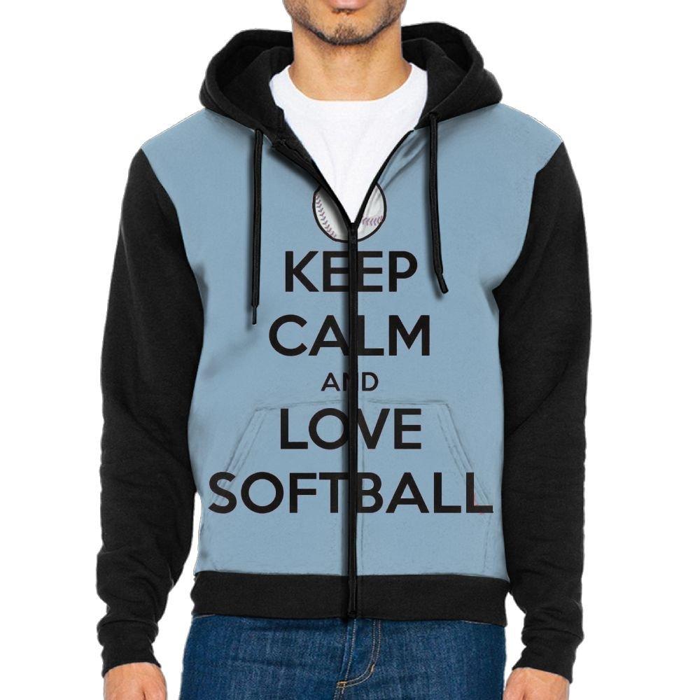 JINYIPI Hoodies For Men Softball Game Full Zip Fashion Athletic Printed Sweatshirt Pullover Jackets
