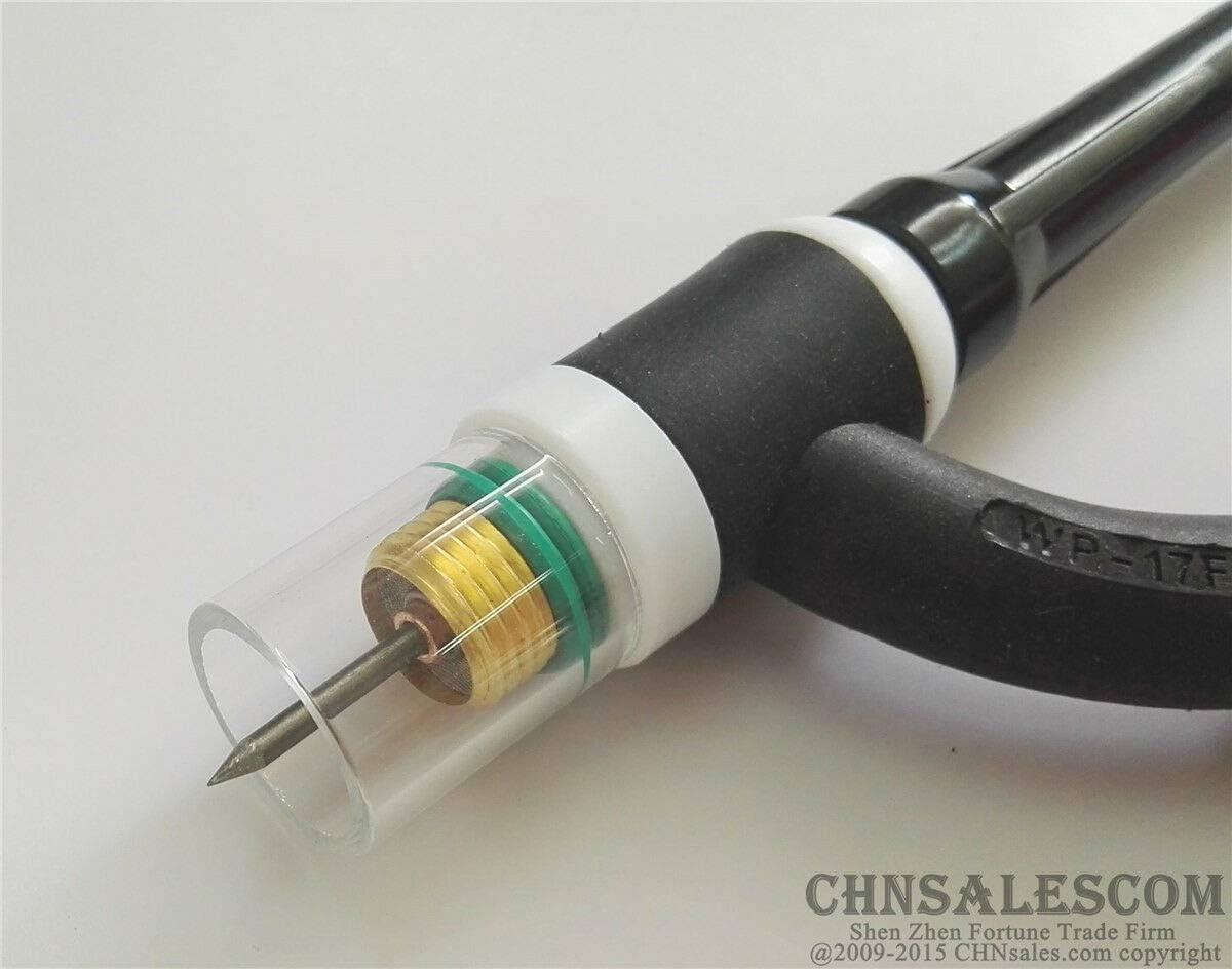 CHNsalescom 23 pcs TIG Welding Stubby Gas Lens #10 Pyrex Cup Kit WP-17//18//26 Torch 3//32