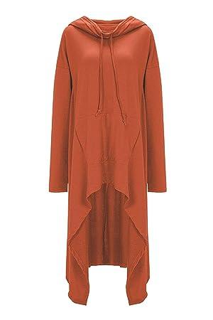 ZHRUI Sudadera con Capucha de Talla Grande para Mujer Primavera Otoño Sudaderas Casuales (Color : Naranja, tamaño : S): Amazon.es: Hogar
