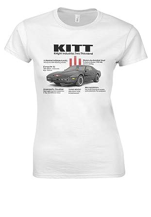Knightrider KITT 1982 Pontiac Trans Am 80s Tv 70s White Women T Shirt Top-S