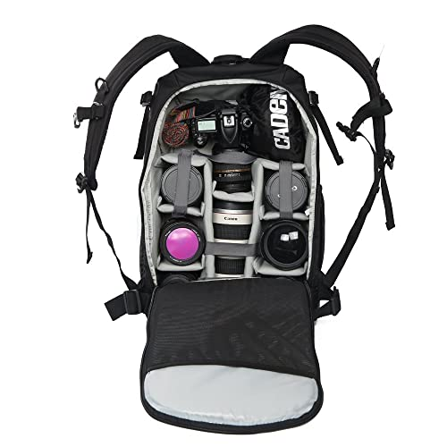 CADeN Professional Camera Backpacks Anti-theft Waterproof Shockproof DSLR SLR Camera Bag Case and laptop Bag for Canon Nikon Sony Olympus Panasonic Pentax and lenses