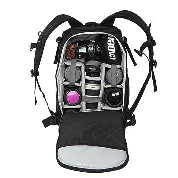 CADeN profesional mochilas camara reflex antirobo resistente al agua a prueba de golpes DSLR SLR Camara Mochila Bolsa Caso y portatil para Canon Nikon Sony ...