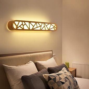 GBYZHMH Badezimmer Spiegel Vorne Licht Moderne Massivholz LED Spiegel Vorne  Leuchten Schlafzimmer Ankleidezimmer Leuchten (