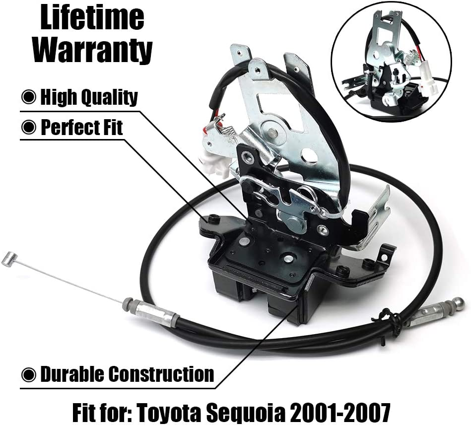 FEXON Liftgate Lock Latch Replacement for 2001 2002 2003 2004 2005 2006 2007 Toyota Sequoia Rear Hatch Tailgate Trunk Latch Lock 69301-0C010 64680-0C010 931-861