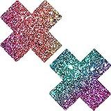 Neva Nude Super Sparkle Rock Kandi Glitter X Factor Nipztix Pasties Nipple Covers