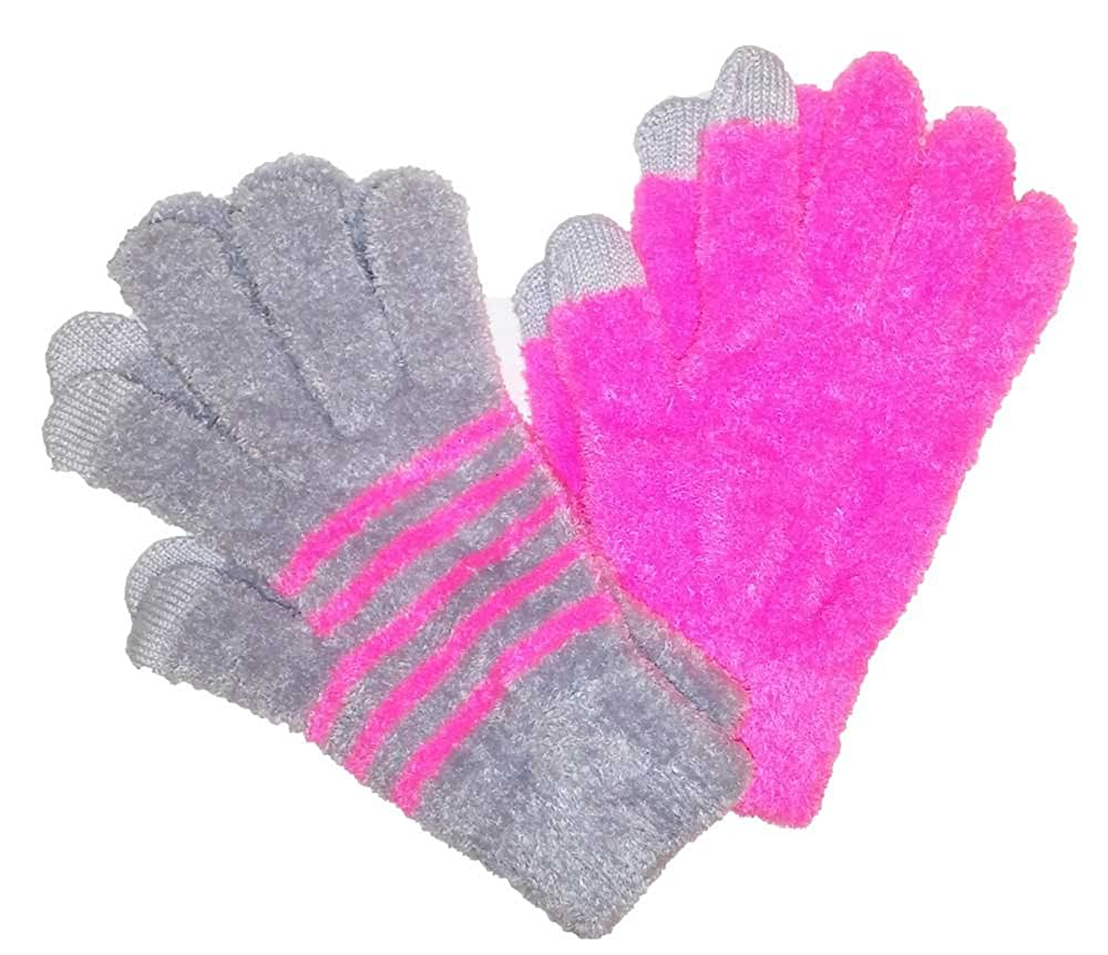 SO Girl Chenille Texting Gloves Two Pairs